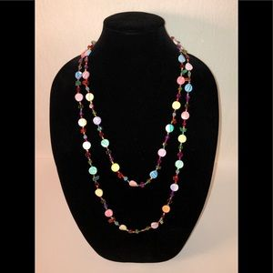 Jewelry - Multi-Color Beaded Necklace 60""